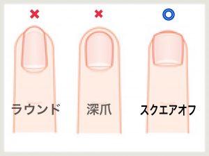 爪の切り方 1