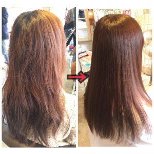 髪質改善ビフォーアフター画像